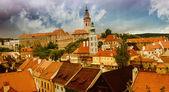 Fotografie střechy český krumlov, Česká republika
