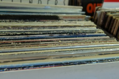 Vinyl LP Record Collection in Crate. This is a popular choice fo