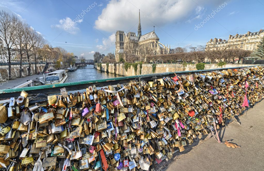 Paris dec 1 lockers at pont des arts symbolize love for ever stock phot - Cadenas amoureux pont paris ...