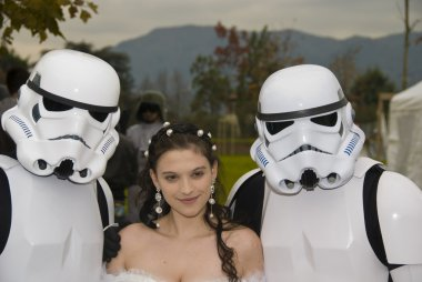 Two Warriors in White Armour and the Princess