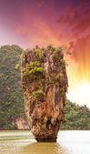 Photo Beautiful view of Phang Nga Bay rocks, James Bond Island, Thaila