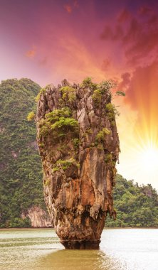 Beautiful view of Phang Nga Bay rocks, James Bond Island, Thaila