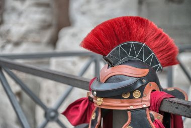 Centurion Helmet in the streets of Rome