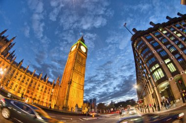 London. Magnificence of Big Ben Tower at sunset