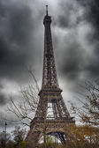 Terrific view of Eiffel Tower in winter season, Paris