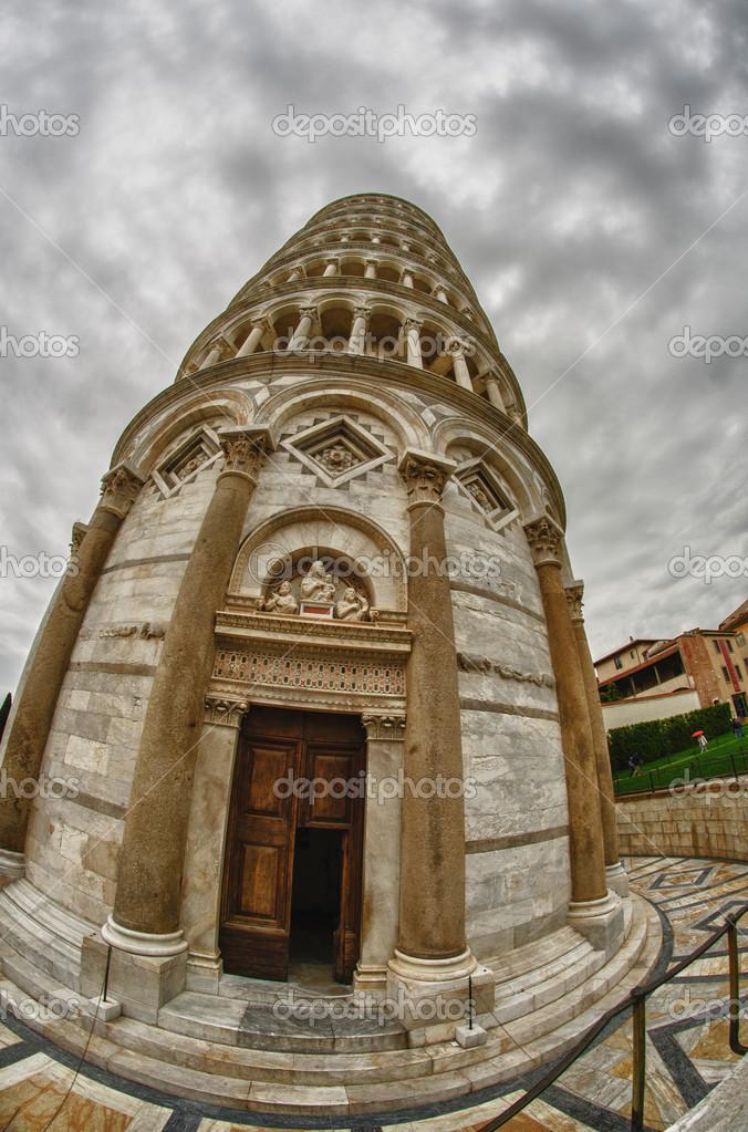 Berühmte Architektur berühmte architektur über wunder square in pisa stockfoto