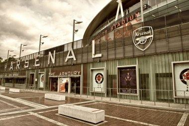 LONDON - SEP 20. Exterior of Arsenal FC Emirates Stadium, result