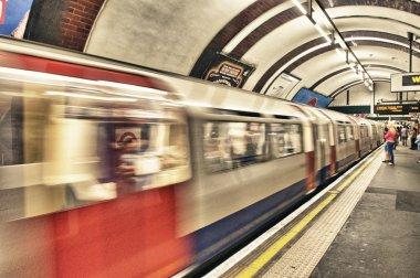 LONDON - SEP 28: London Underground train station on September 2