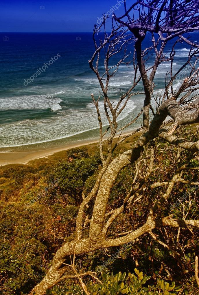 Beautiful scenario of Byron Bay Sea on a sunny winter day