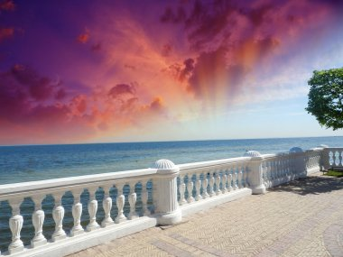 Wonderful stone balcony with great ocean view