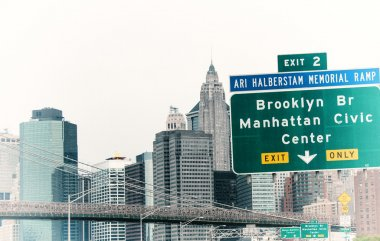 Interstate signs and directions near New York City