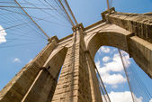 Fotografie výkonné struktura brooklyn most centrum pylonu na krásné