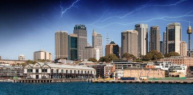 Skyscrapers of Sydney Harbour in Port Jackson, natural harbour o