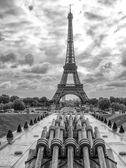 Tour eiffel, Paříž. nádherný výhled na slavnou věž