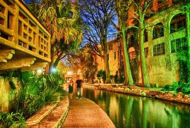 San Antonio at night, Texas