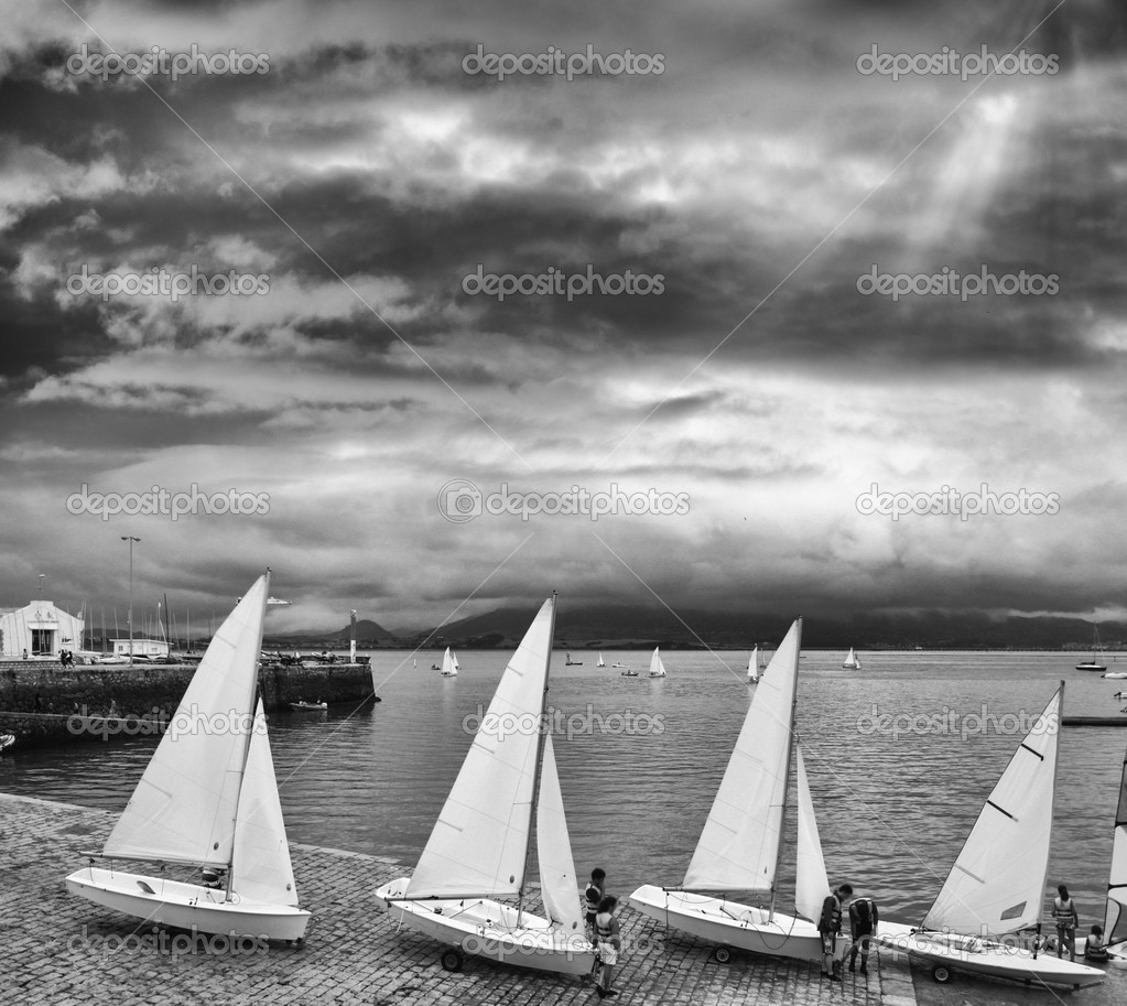 Sailing Boats in a row