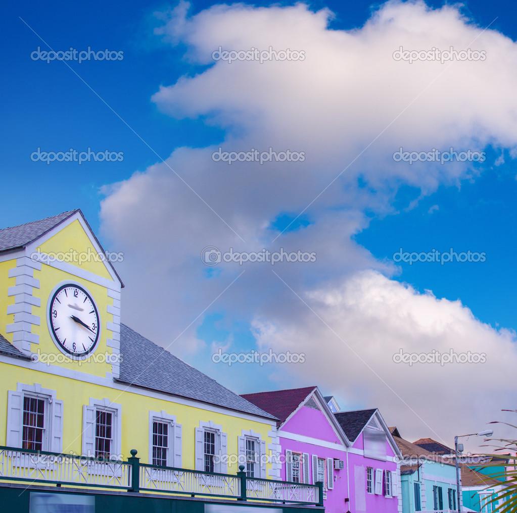 Homes of caribbean island