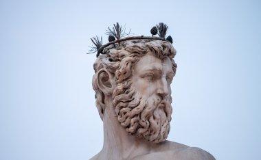 Famous Fountain of Neptune on Piazza della Signoria