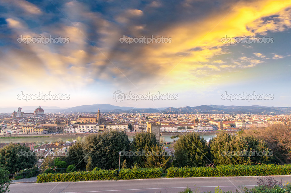 Florence cityscape.