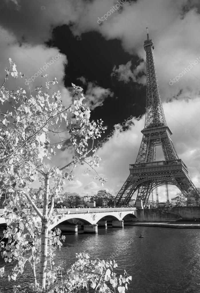 Eiffel Tower and Seine rive