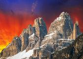 Fotografie vysoké vrcholy Dolomit