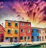 Burano v provincii Benátky