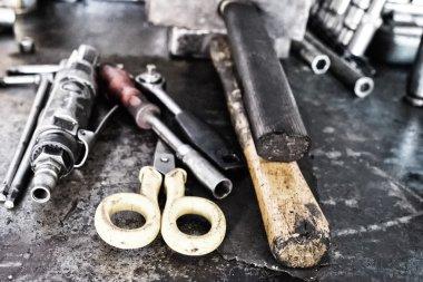 Car mechanician workshop tools