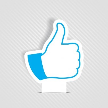 Vector illustration of thumb up like symbol stock vector