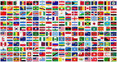 Fotografie alphabetical world flags