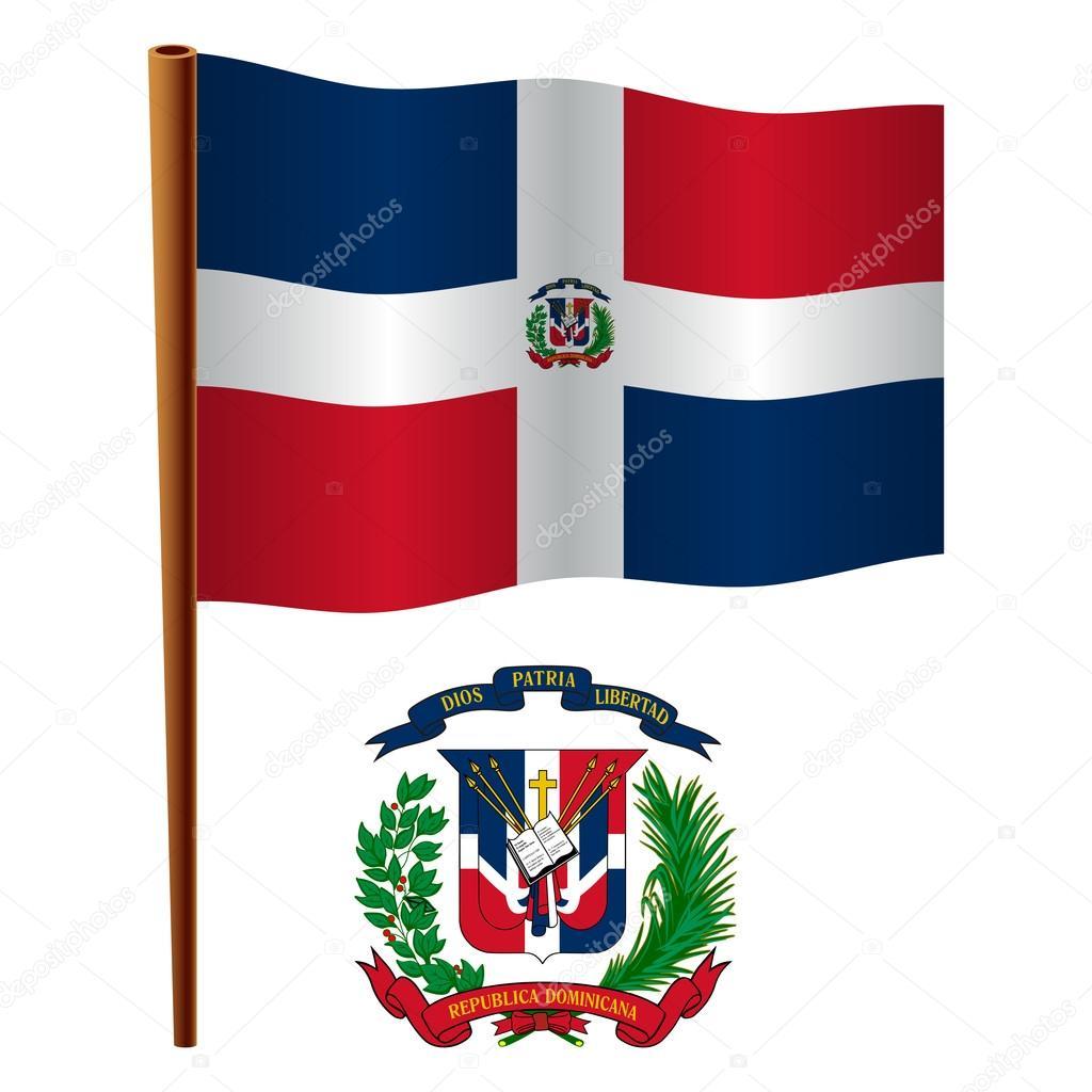 Dominican Republic Wavy Flag Stock Vector Robertosch 25065647