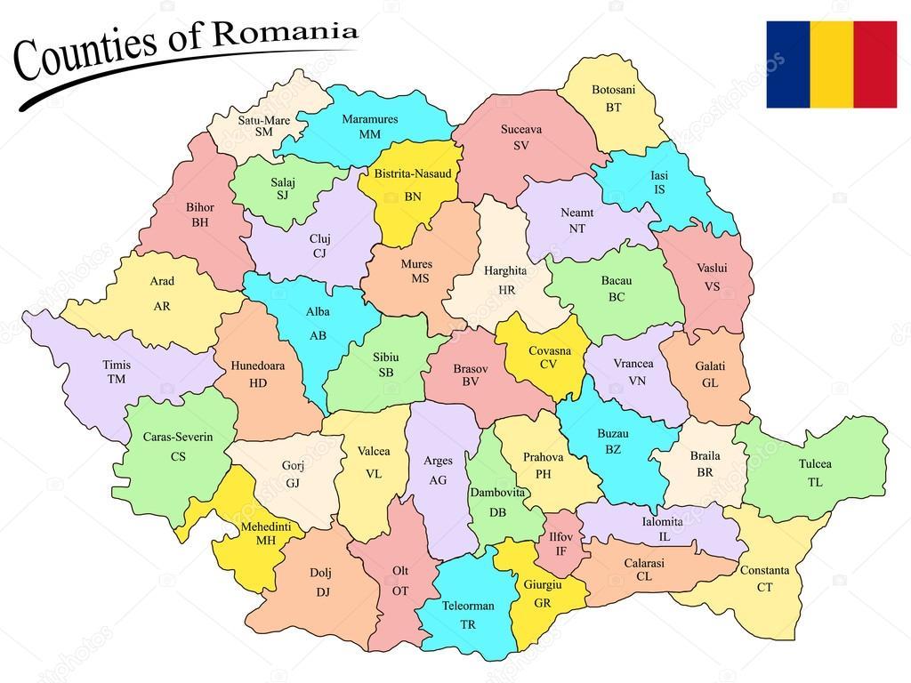 erdély megyéi térkép Románia megyéi — Stock Vektor © robertosch #25066301 erdély megyéi térkép