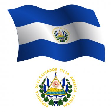 El salvador wavy flag and coat