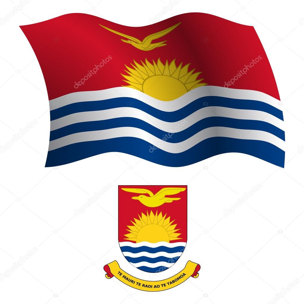 Kiribati Wellig Flagge Und Wappen