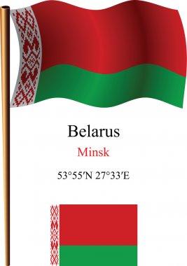 belarus wavy flag and coordinates