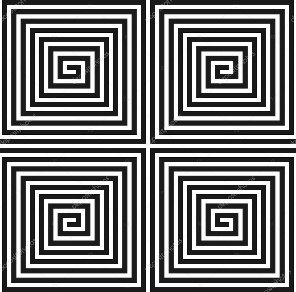 textura cuadrado espiral. patrón sin costuras — Archivo Imágenes ...