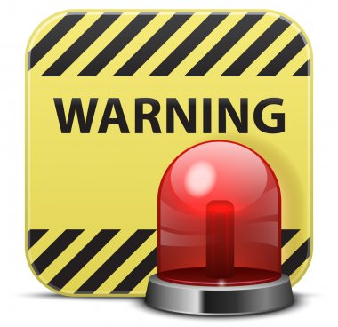 Vector warning icon stock vector