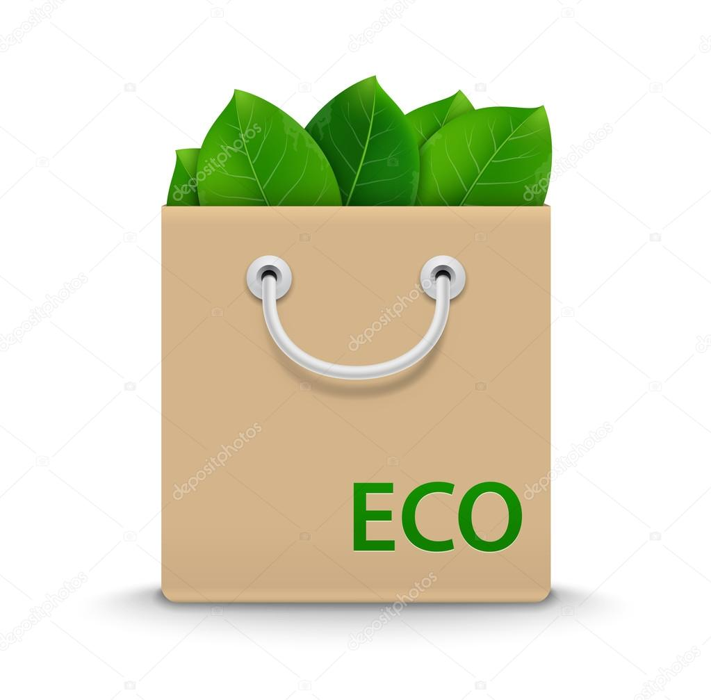 Eco Shopping Bag. Vector Illustration