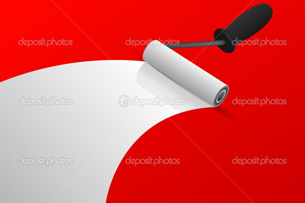 paint roll vector stock vector yuriy vlasenko 17205699