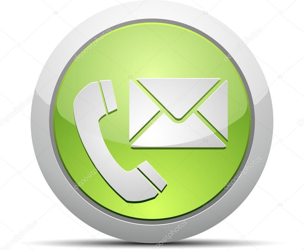 Tel fono y correo electr nico vector icono vector de for Telefono oficina de correos