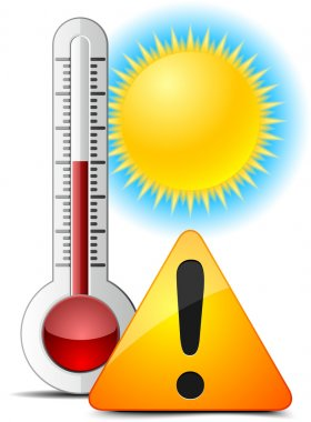 Thermometer by hot summer.