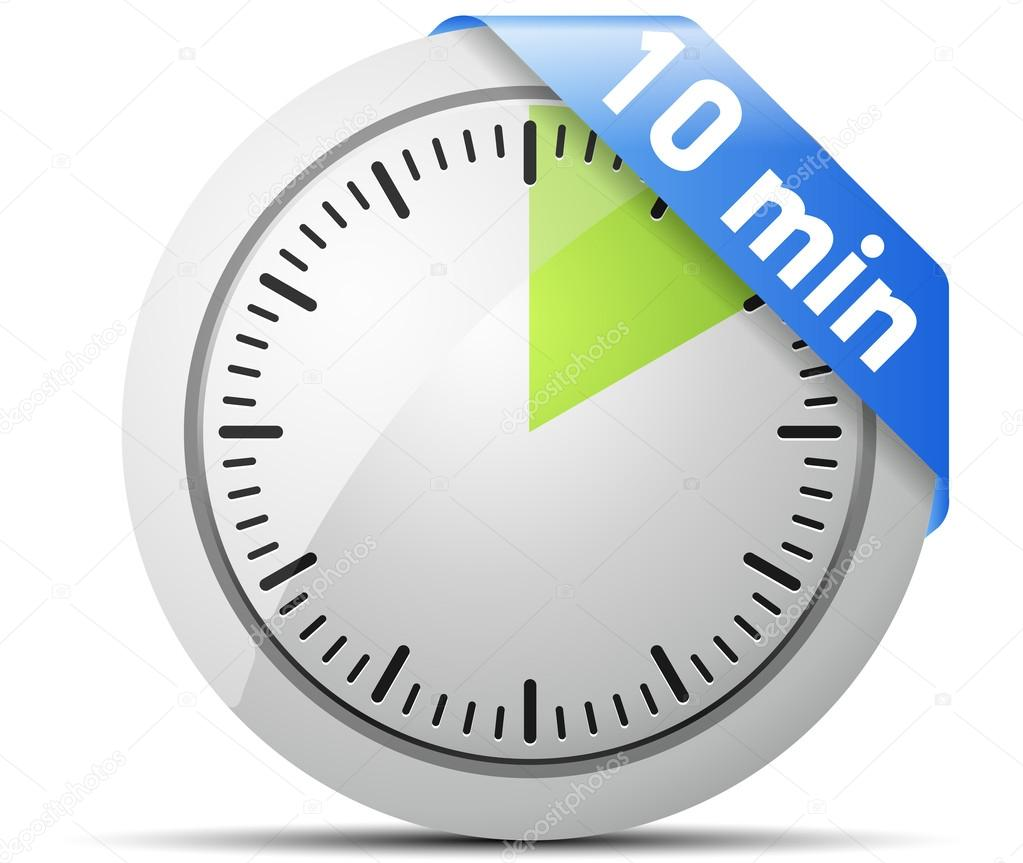 10 minutes timer stock vector