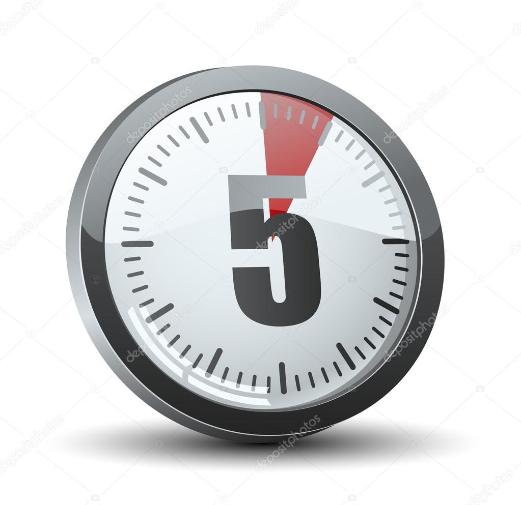 5 minutes timer stock vector yuriy vlasenko 47725725