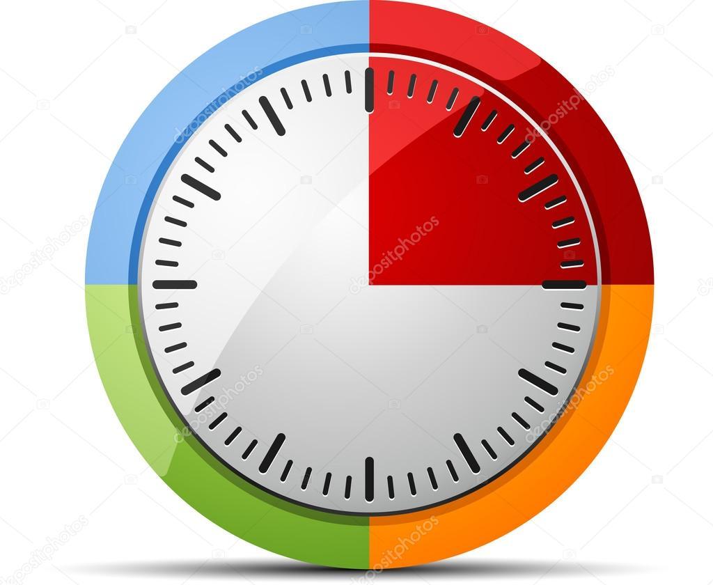 15 minutes timer stock vector yuriy vlasenko 47730807