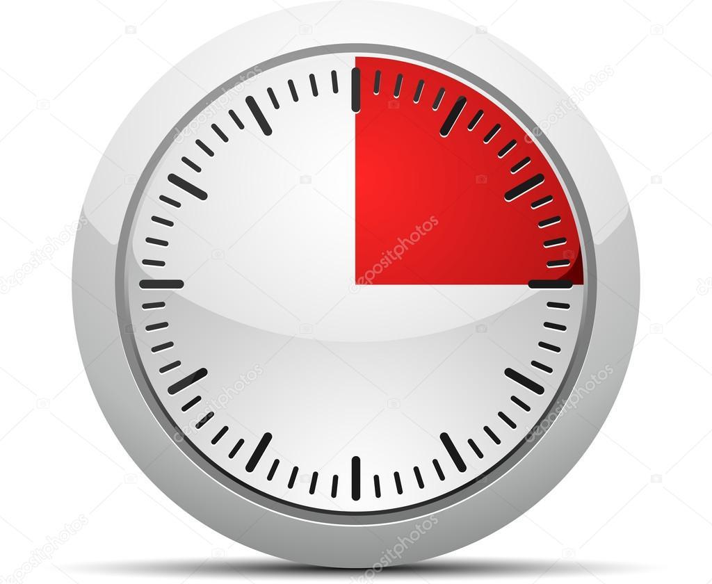 15 minutes timer stock vector yuriy vlasenko 47730809