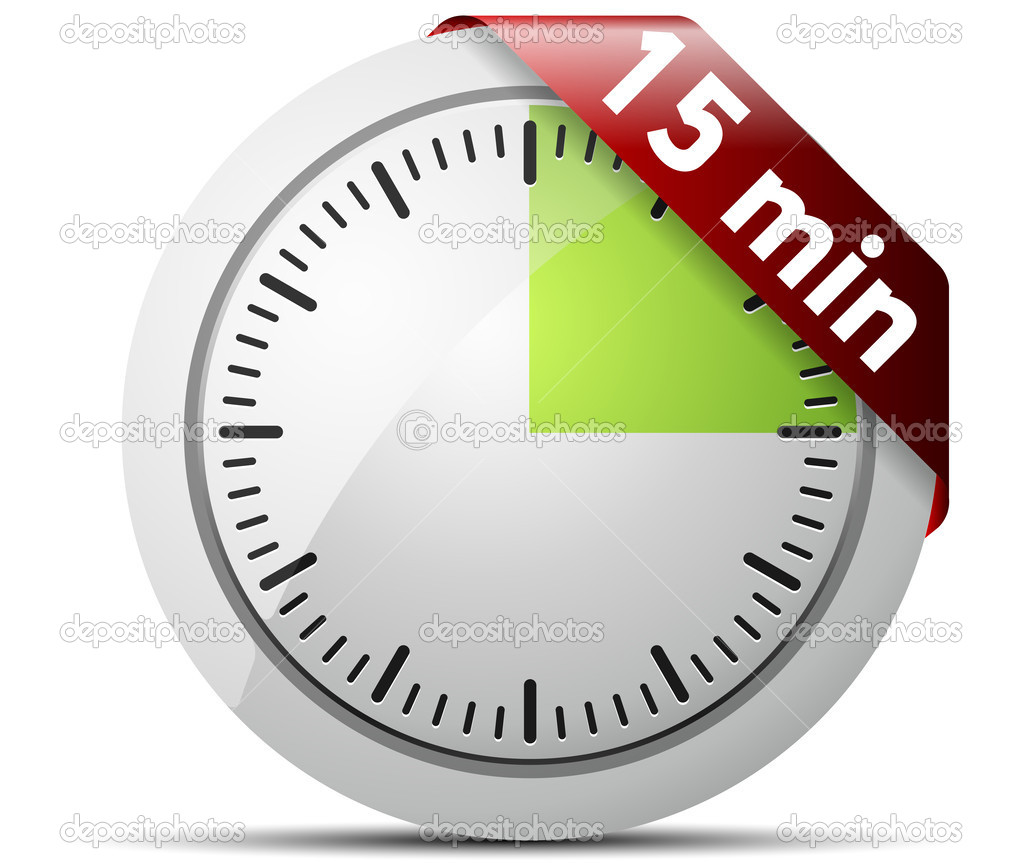 15 Minutes timer — Stock Vector © Yuriy_Vlasenko #47730855