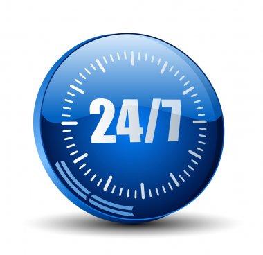 24 7 service button