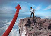 Üzletember megpróbálja növelni a statisztikák