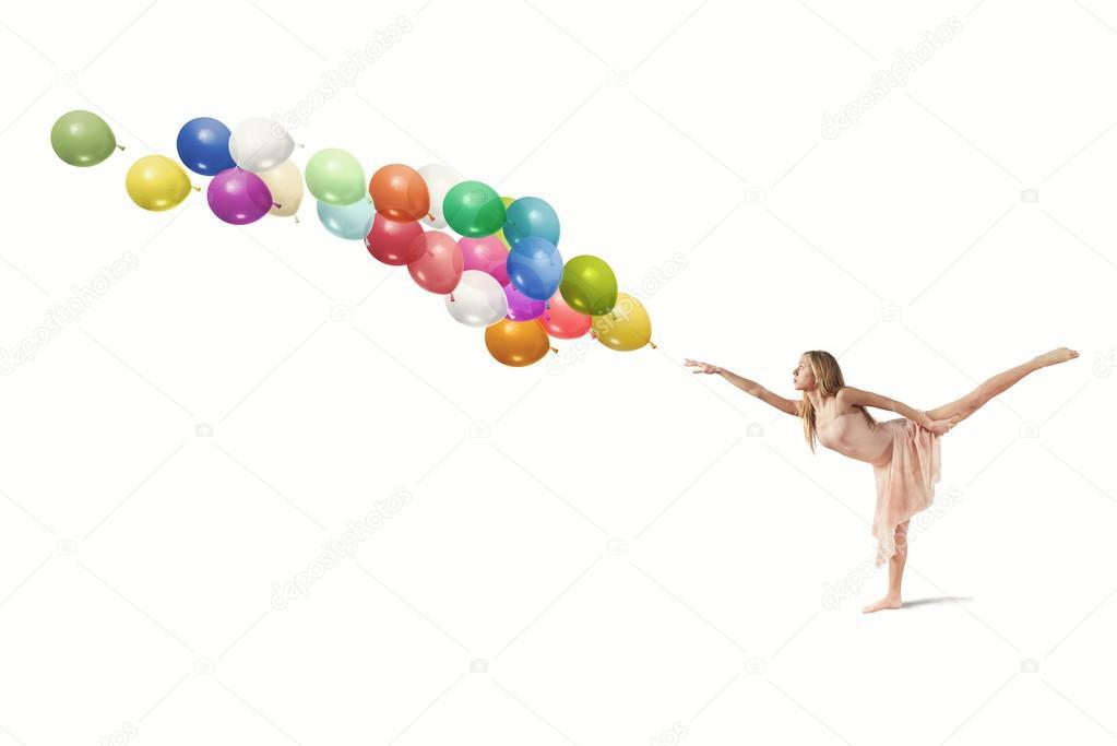Ballerina con palloncini foto stock alphaspirit 28965117 - Immagine con palloncini ...
