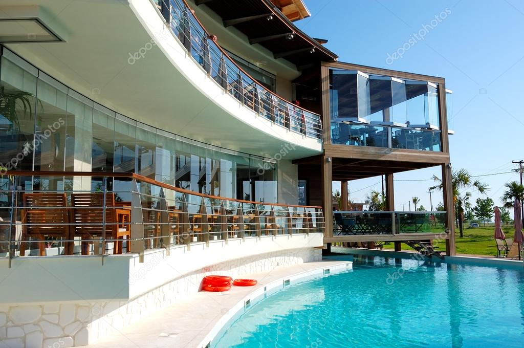 Swimming Pool And Outdoor Restaurant At The Modern Luxury Hotel Stock Photo C Slava296 14636975