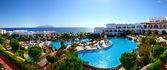 Panorama vom Strand des Luxushotels, Sharm el Sheikh, Ägypten